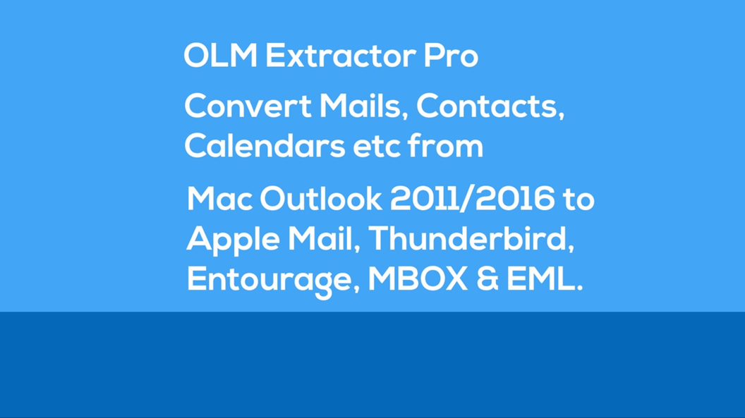 Discover the Best Approach to Export Outlook 2011 folders to Mac Mail