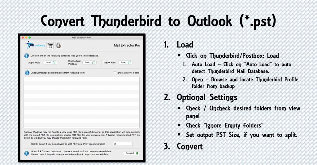 Thunderbird email conversion to Outlook
